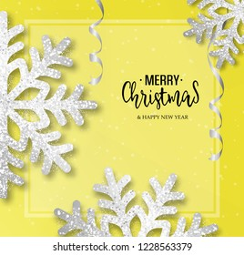 Abstract vector Christmas greeting card