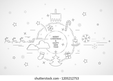 Abstract vector christmas new year simple background