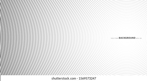 Abstract vector circle halftone black background. Gradient retro line pattern design. Monochrome graphic. Circle for sound wave. vector illustration