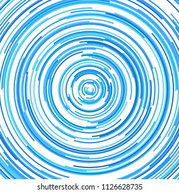 Abstract vector circular background from concentric half rings