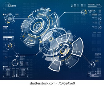 Abstract Vector Circular Element for HUD Sci Fi Interfaces