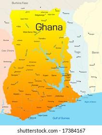 Ghana Map Images, Stock Photos & Vectors | Shutterstock