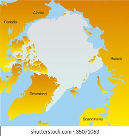 Abstract Vector Color map of North pole
