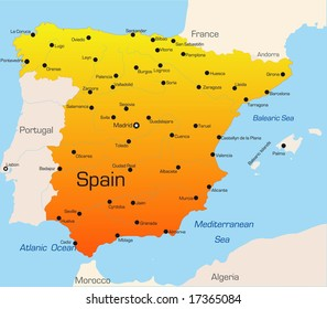 Spain Map Images Stock Photos Vectors Shutterstock
