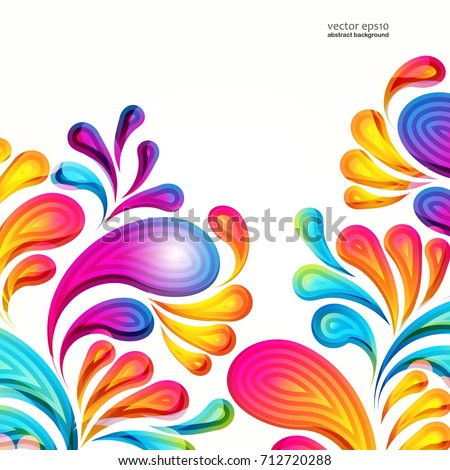 Abstract Vector Colorful Arcdrop Background Color Stock Vector