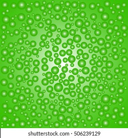 Abstract Vector Colorful Backgrounds with green bubbles.
