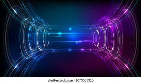 abstract vector colorful Hi-tech digital technology  background illustration