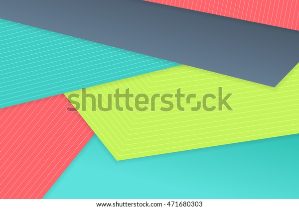 Abstract Vector Colorful Material Design Shadow Stock Vector