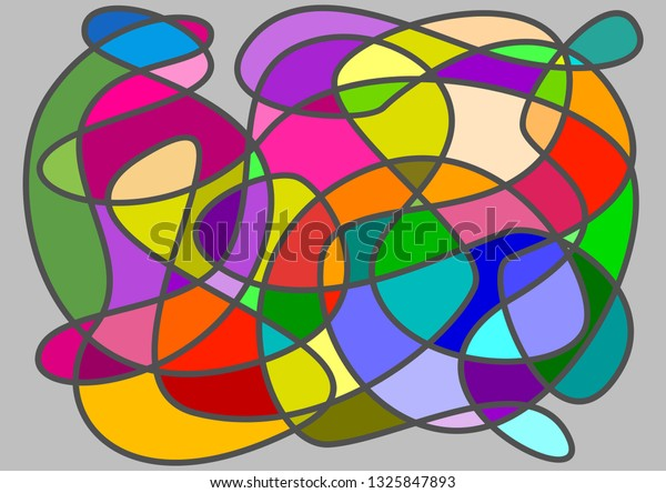 Abstract Vector Colors Full Tangled Yarn Stock Vector Royalty Free 1325847893