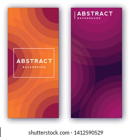 Abstract vector cover design template. Geometric gradient background. Vector templates for banners, flyers, brochure. Stories template. Smartphone screen.