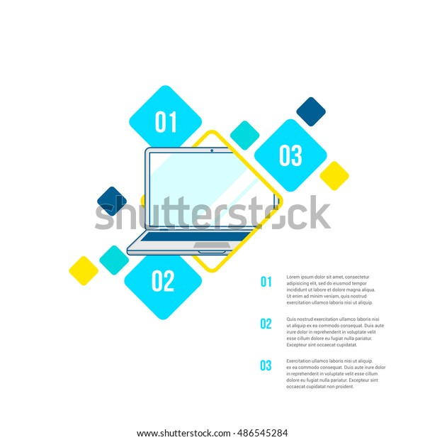 Abstract Vector Creative Infographics Design Background