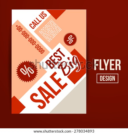 abstract vector creative sale flyers can stock vector royalty free