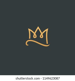 Abstract vector crown logo vector design. Sign for beauty salon, elite accessories, jewelry, hotels, spa, wedding. Vintage decorative icon queen, king, princess. Abstract sign, vector logotype.