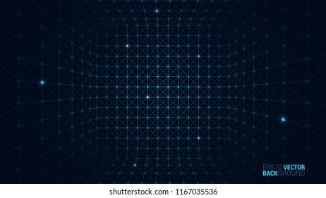 Abstract vector cube