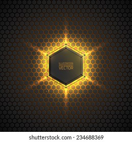 Abstract vector dark background. Vector background for web, applications, business. Vector abstract sci-fi illustration. Vector polygons