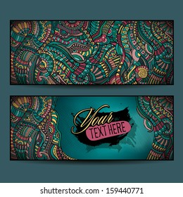Abstract vector decorative ethnic ornamental backgrounds. Series of image Template frame design for card.