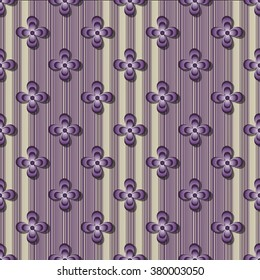 Abstract vector decorative floral pattern