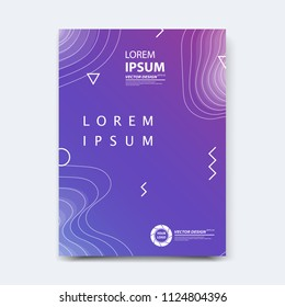 Abstract vector design for cover, poster, banner, flayer, business card, magazine annual report, title page, brochure template layout or booklet .A4 size with geometric shapes on white background