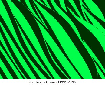 Abstract Vector Design Creativity Background of Green and Black Waves