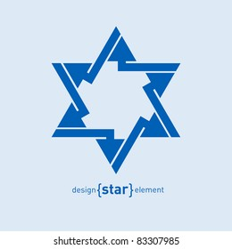 The Abstract vector design element blue star