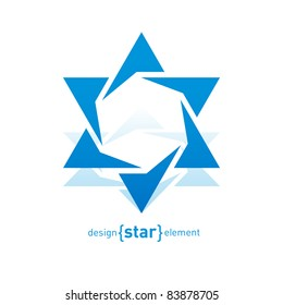 The Abstract vector design element blue David star