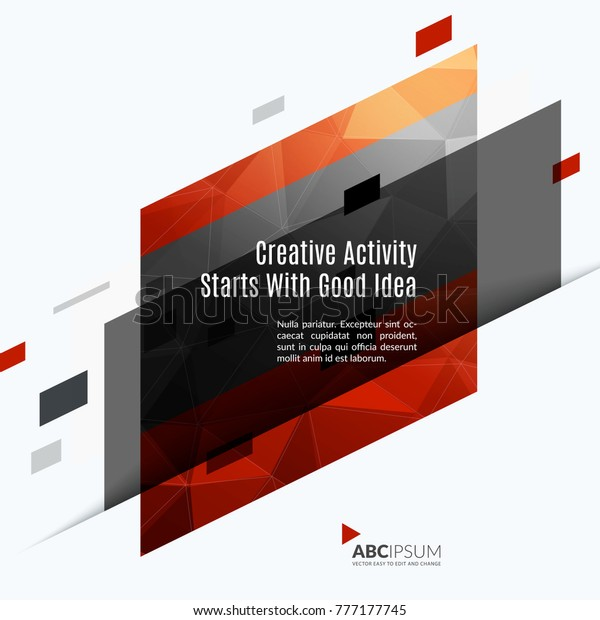 Abstract vector design elements for graphic layout