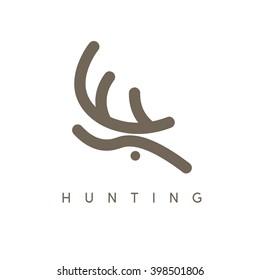 abstract vector design template of deer head