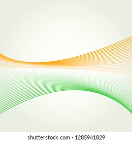 Abstract vector design template with Indian national flag colors.