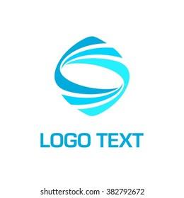Abstract Vector Dynamic Shaped logo