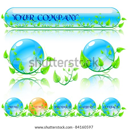 abstract vector environmental theme elements website stock vector
