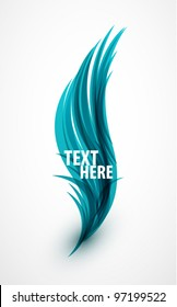 Abstract vector eps10 lines feather blue design background for your message