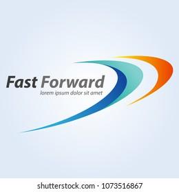 Abstract vector, fast forward symbol