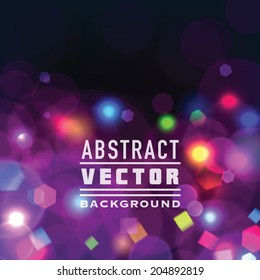 Abstract vector festive background with bokeh lights