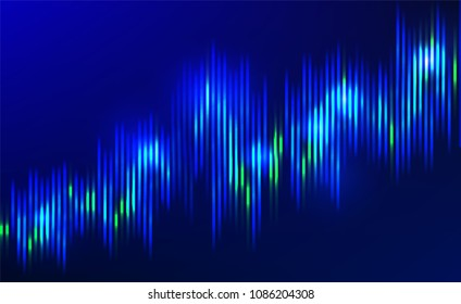 Abstract vector finance  big data graph visualization. Stock index infographics. Visual information complexity. Intricate data threads chart. Business analytics. Artifficial inteligence.