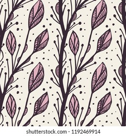 Abstract vector floral pattern