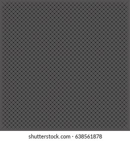 Abstract vector geometric halftone pattern with black grid on grey background. Modern graphic design with intersected lines arranged as a cage. Greyscale grate background.