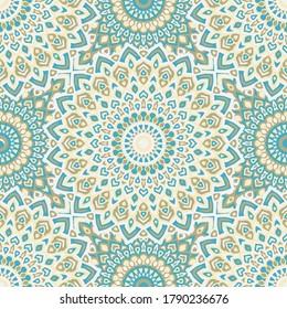 Abstract vector geometric seamless pattern. Batik ornament. Mexican cloth seamless pattern. Geometric mandala background.