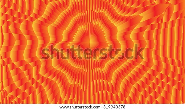 Abstract vector gradient wireframe 3d surface mesh distortion