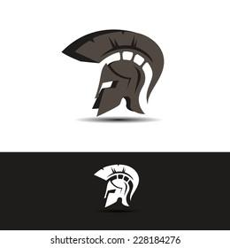 abstract vector greek helmet icon idea concept for the logo