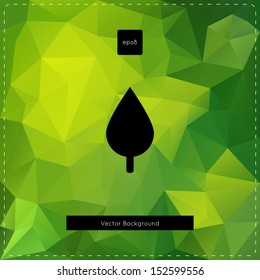 Abstract vector green polygonal background.