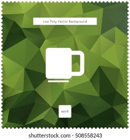 Abstract vector green tea polygonal background.