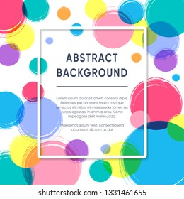 Abstract vector greeting card or poster design template