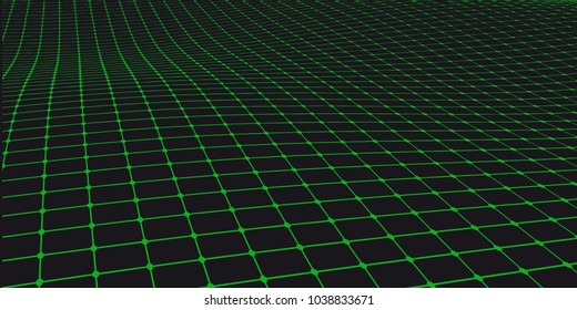 Abstract vector grid background. Array of dots modern graphic template. Technology concept