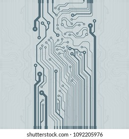 Abstract vector high tech circuit board background illustration. EPS10 pattern