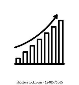 Abstract Vector icon for cumulative growth