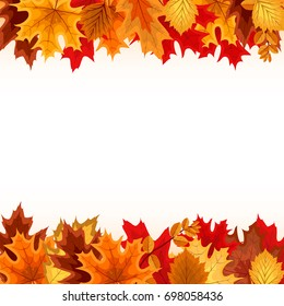 Abstract Vector Illustration Background with Falling Autumn Leaves. EPS10