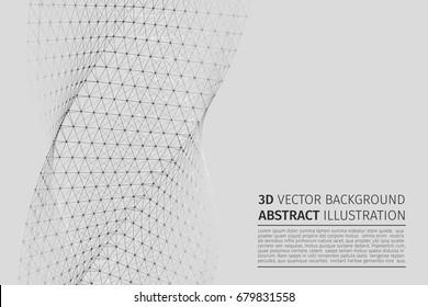 Abstract vector illustration. Background vector. Plexus effect.