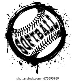 softball vector stock vectors images vector art shutterstock rh shutterstock com softball vector art free softball vector clip art