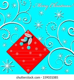 Abstract vector illustration of Christmas greeting card