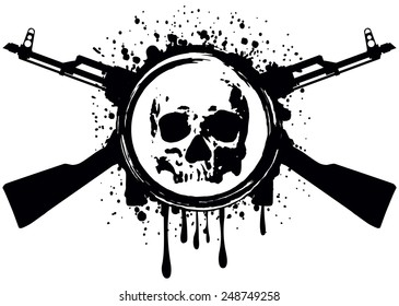 1000 crossed guns pictures royalty free images stock photos and 18th Century Flintlock Pistol abstract vector illustration crossed automatic rifles and skull